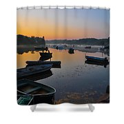 Rowboats At Rest Shower Curtain