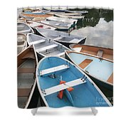 Rowboats In Quissett Harbor Shower Curtain