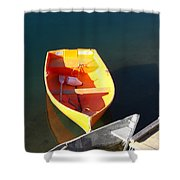 Rowboats In Rockport, Ma Shower Curtain
