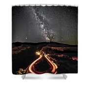Rowena Milky Way Shower Curtain