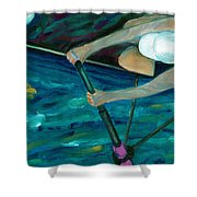 Rower Shower Curtain