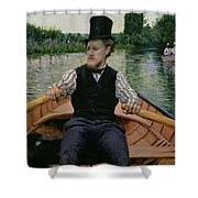 Rower In A Top Hat Shower Curtain