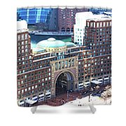 Rowes Wharf Building Shower Curtain