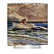 Rowing At Prouts Neck Shower Curtain
