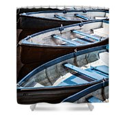Rowing Boats Shower Curtain