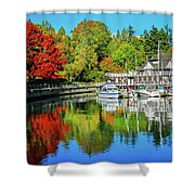 Rowing Club Color Shower Curtain