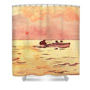 Rowing Home Shower Curtain by Winslow Homer