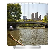 Rowing In Central Park Shower Curtain
