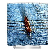 Rowing In Shower Curtain