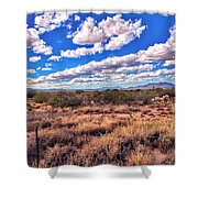 Rows Of Clouds Over Sonoran Desert Shower Curtain