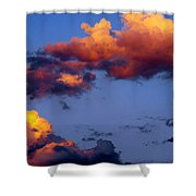 Roy-biv Clouds Shower Curtain
