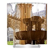 Royal Cloister Of The Batalha Monastery Shower Curtain