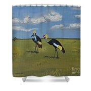 Royal Cranes Shower Curtain