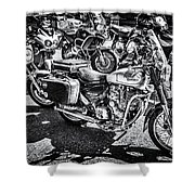 Royal Enfield Bullet Electra X Mono Shower Curtain