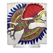 Royal Flycatcher- Mayan 2 Shower Curtain