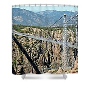 Royal Gorge Bridge In Summer Shower Curtain