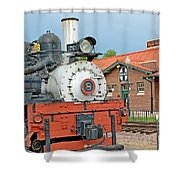 Royal Gorge Train And Depot Shower Curtain