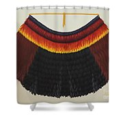 Royal Hawaiian Feather Cape Shower Curtain
