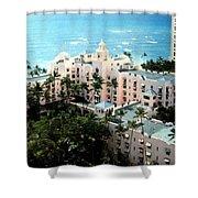 Royal Hawaiian Hotel  Shower Curtain