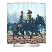Royal Horse Artillery Painted Shower Curtain