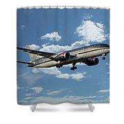 Royal Jordanian 787 Jy-baf Shower Curtain