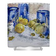 Royal Lemons Shower Curtain