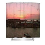 Royal Navy Port Bermuda Shower Curtain