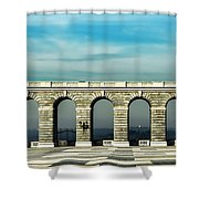 Royal Palace Courtyard Shower Curtain