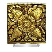 Royal Palace Gilded Door 04 Shower Curtain