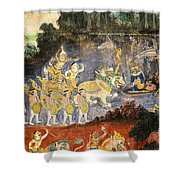Royal Palace Ramayana 08 Shower Curtain