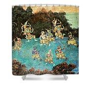 Royal Palace Ramayana 16 Shower Curtain