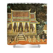 Royal Palace Ramayana 18 Shower Curtain
