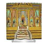 Royal Palace Ramayana 21 Shower Curtain