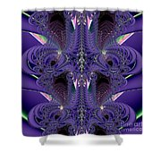 Royal Purple Backbone Fractal Abstract Shower Curtain