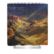 Royal Rainbow Shower Curtain by Peter Coskun
