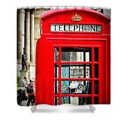 Royal Red Shower Curtain