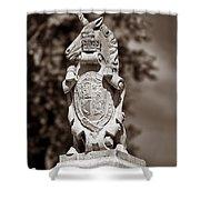 Royal Unicorn - Sepia Shower Curtain