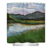 Royal Wetlands Shower Curtain
