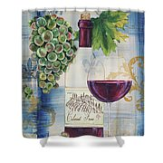 Royal Wine-a Shower Curtain