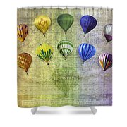 Roygbiv Balloons Shower Curtain