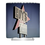 Roys Motel And Cafe Shower Curtain