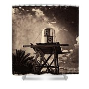 Rs Water Tower Sepia Shower Curtain