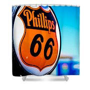 Rt. 66 Gas Pump Shower Curtain