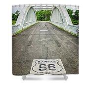 Rt. 66 Rainbow Bridge Shower Curtain