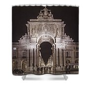 Rua Agusta Arch Lisbon Textured II Shower Curtain