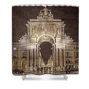Rua Agusta Arch Lisbon Textured Shower Curtain