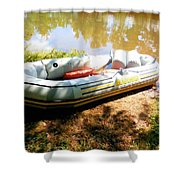 Rubber Boat 1 Shower Curtain