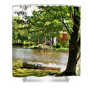 Rubber Boat 2 Shower Curtain
