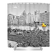 Rubber Duck - Pittsburgh, Pennsylvania Shower Curtain