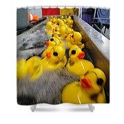 Rubber Duckies Shower Curtain
